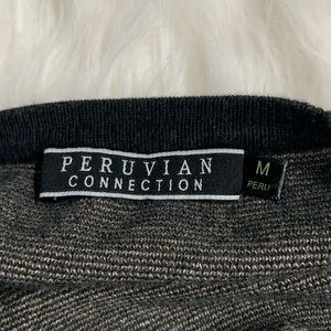 Peruvian Connection Tops - Peruvian Connection | Gray Aztec Short Sleeve Top